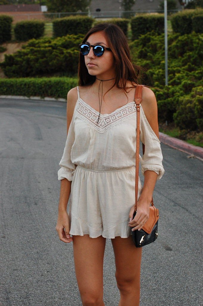 UO cold shoulder romper