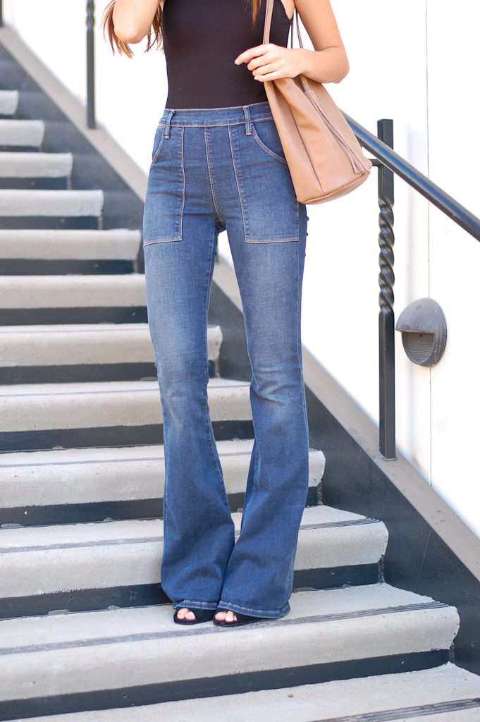 bodysuit flares jeans