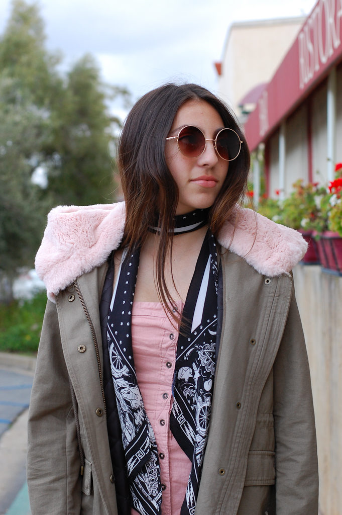 Pink strapless dress Jacket top