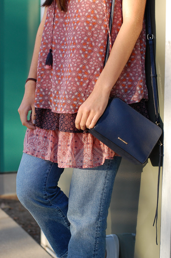 Layered dress over Jeans middle